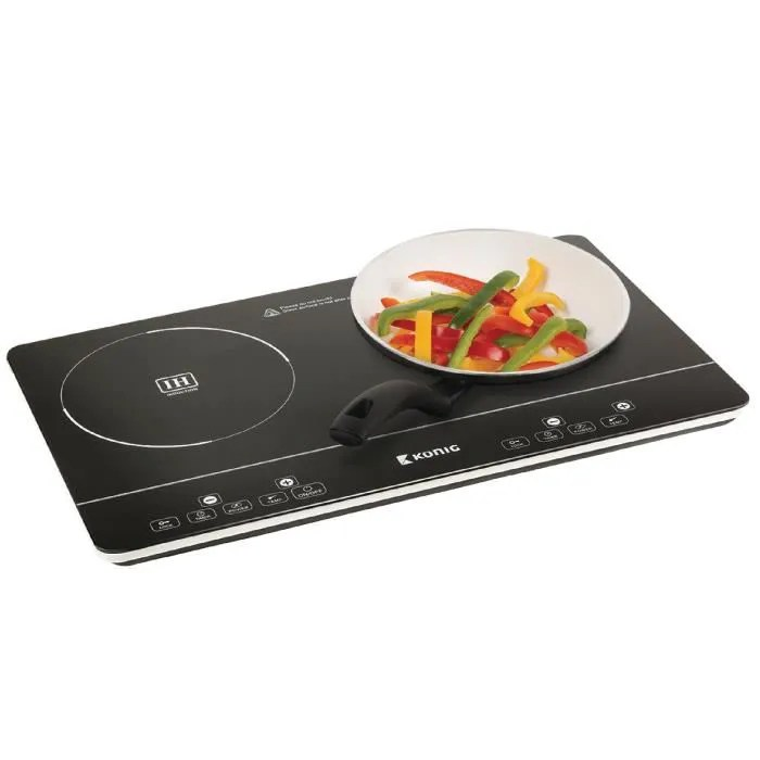 Double plaque  induction tactile ultrafine 3 500 W