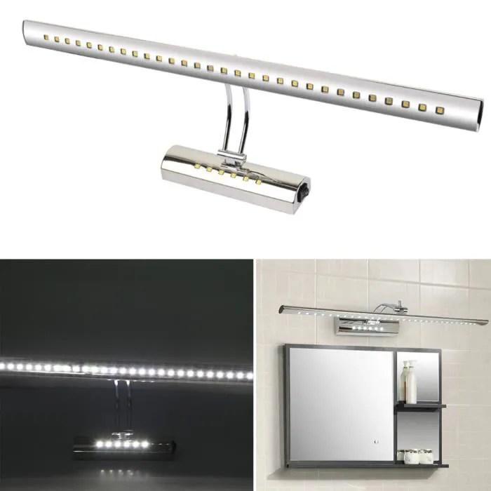SUNGLE Lampe miroir LED pour salle de bain lumire blanche en arcie et chrome  Achat  Vente