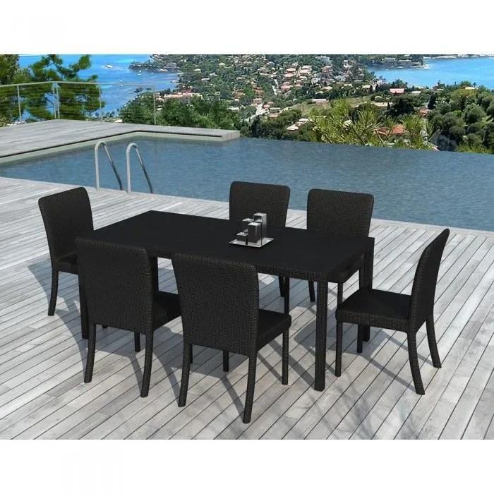 Table jardin verre noir