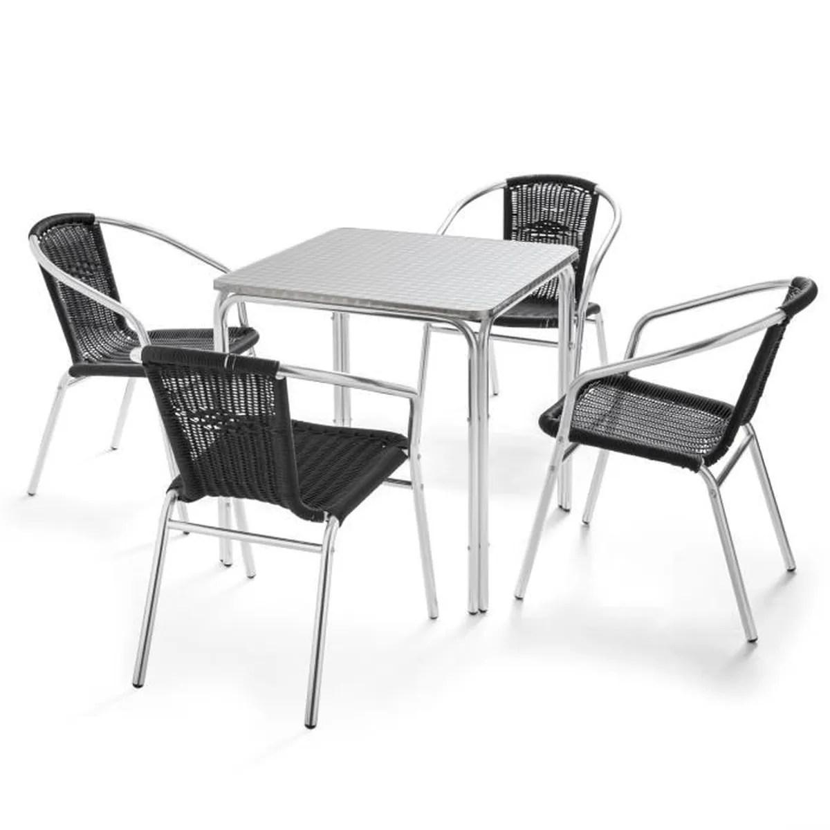 Salon De Jardin Aluminium 1 Table + 8 Fauteuils   Salon De ...
