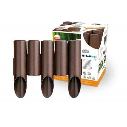 Jardin bordure effet bois 23 m brun palissade  Achat  Vente bordure Jardin bordure effet