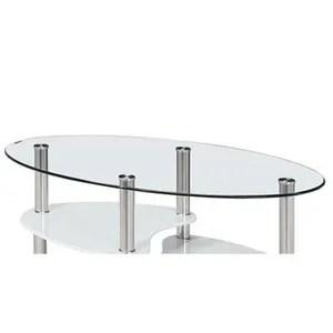 Table Basse Table Basse En Verre Tremp Ovale Opunake