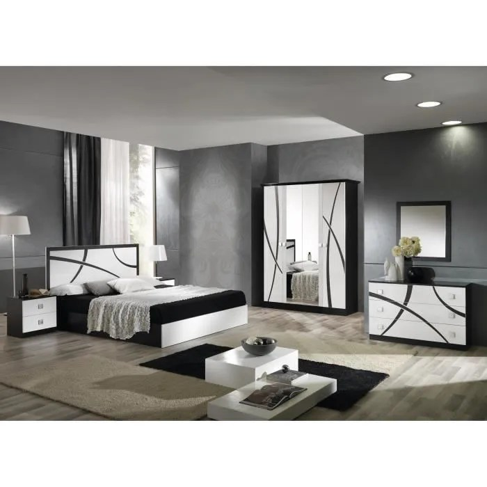 Chambre Milano Complte Armoire 4 Portes Lit 160x200