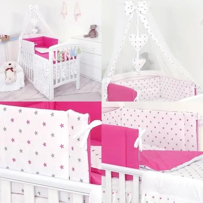 10 pieces ensemble de literie pour lit de bebe lit d enfant couette pare chocs baldaquin support 140 x 70cm 17