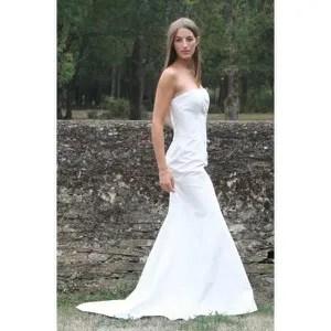 robe de mariee bustier le bo paris soie 40 coul