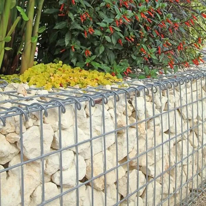 Gabion pour Pierres 100x50x30 cm  Gabions Mtalliques Dco Jardin  Cage mtallique rticul