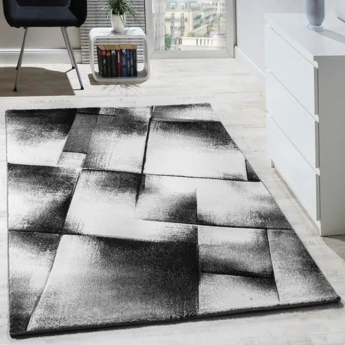 Tapis Salon Poils Ras Gris 160x220 cm  Achat  Vente tapis  Cdiscount