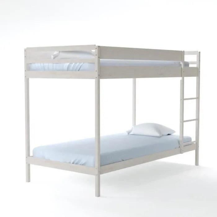 lits superposes enfant 90 x 190 cm