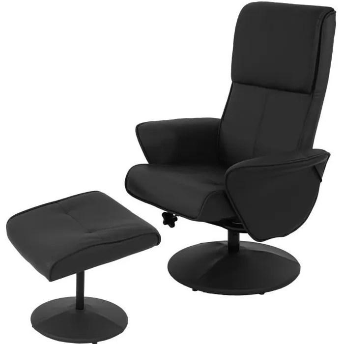Fauteuil relax Helsinki fauteuil TV avec reposepiedspouf
