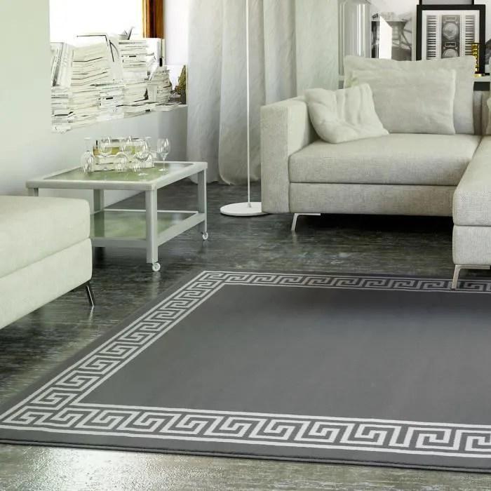 Tapis salon MOTIF GREC gris UNIVERSOL  Achat  Vente tapis  Cdiscount