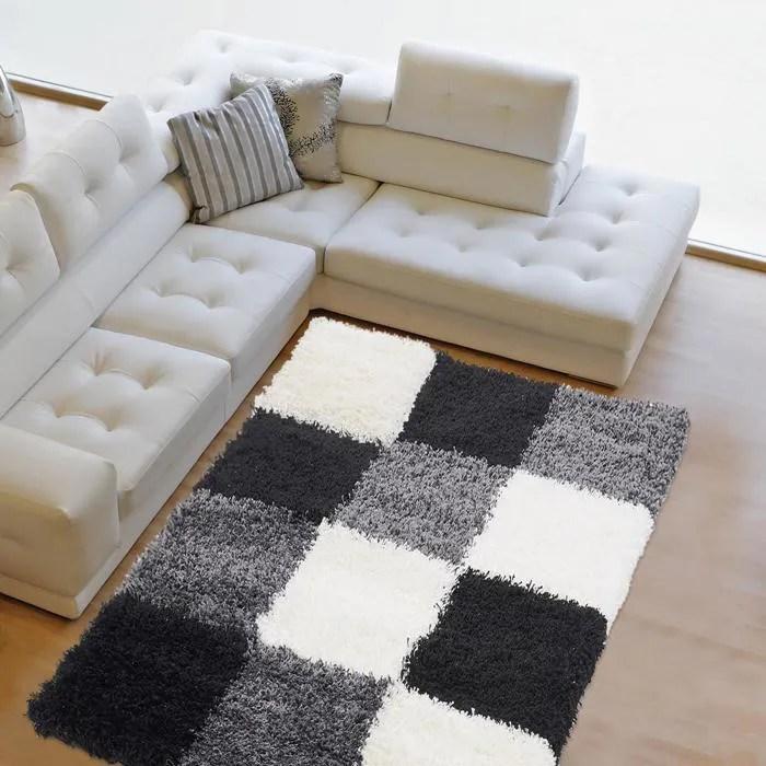 Tapis salon NORLAZ gris noir 160x230 par Unamourdetapis Tapis moderne  Achat  Vente tapis
