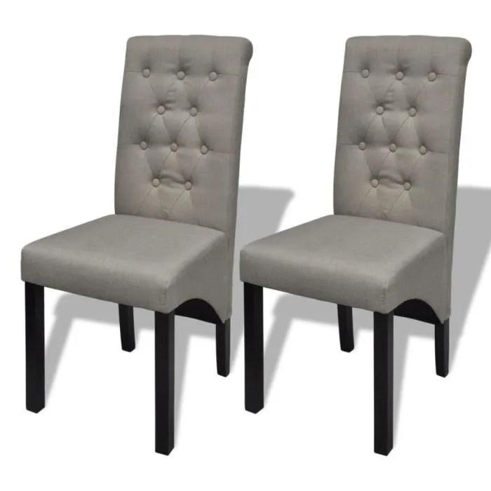 Lot de 2 chaises de salle  manger salon beige  Achat  Vente chaise Beige  Cdiscount
