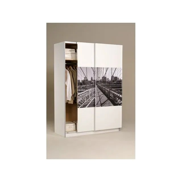Armoire 2 Portes Blanche New York 1