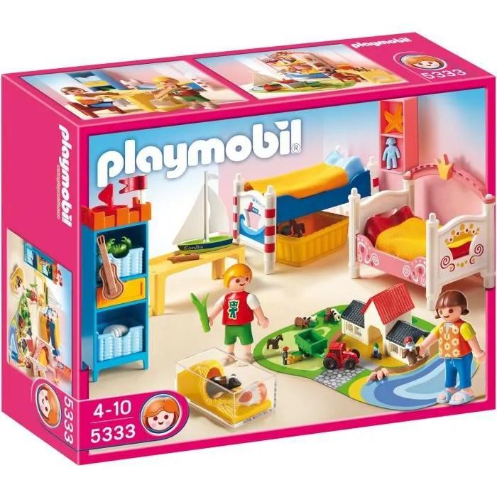 PLAYMOBIL 5333 Chambre des Enfants avec Lits  Achat  Vente univers miniature  Cdiscount