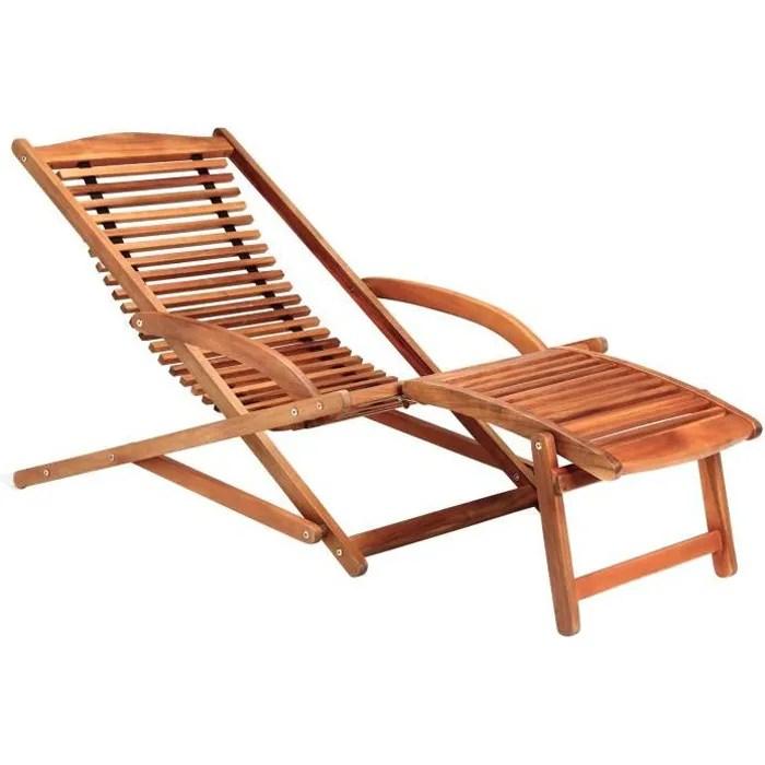 chaise longue en bois pas cher - Transat Bois Pas Cher