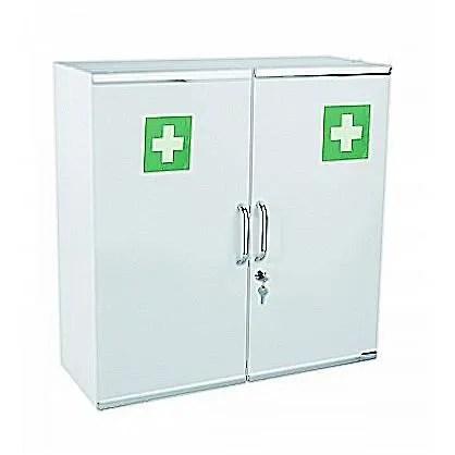 armoire pharmacie 2 portes blanc avec cle