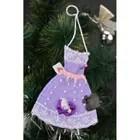 coffret de decoration decoration de noel deco fait main feutre robe idee
