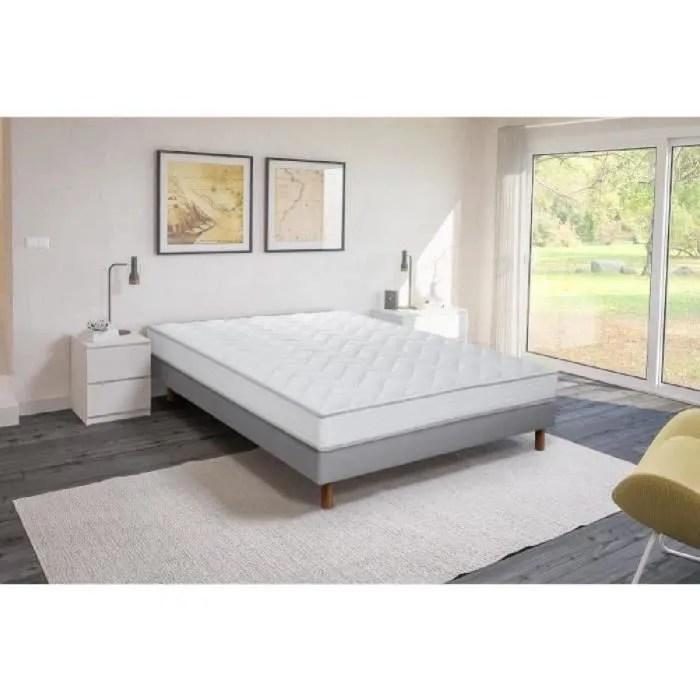 ensemble matelas mousse polyurethane sommier tapissier 160 x 200 confort ferme epaisseur 16 cm finlandek vahto
