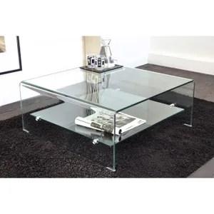Table Basse Vera Table Basse Carree En Verre Courbe Cm