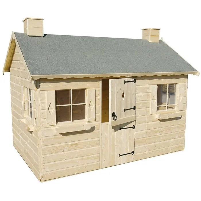 maison de jardin en bois pour enfant bois loisirs abri de. Black Bedroom Furniture Sets. Home Design Ideas