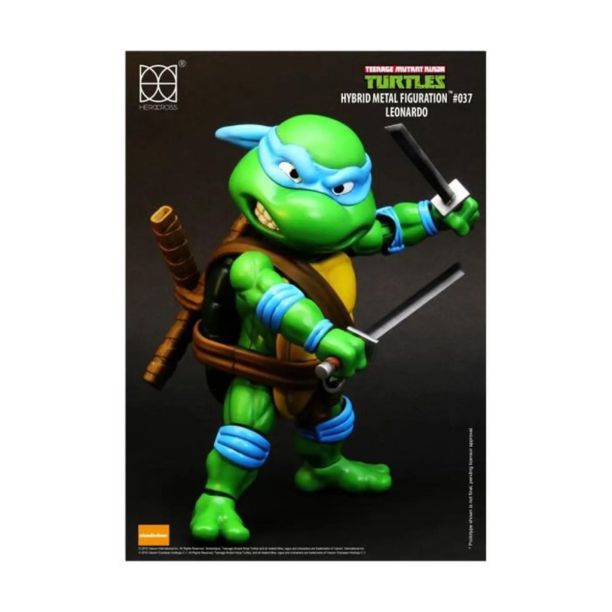 figurine personnage les tortues ninja figurine hybrid metal leonardo