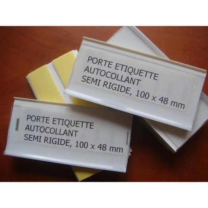 40 Porte Etiquette Autocollantsemi Rigide 100 X48 Achat