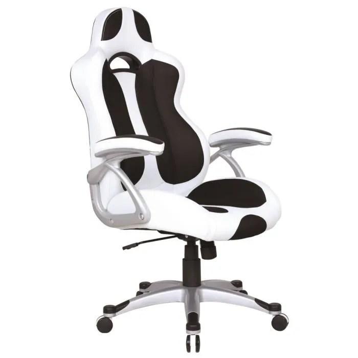 Fauteuil De Bureau Baquet Blanc Achat Vente Chaise De