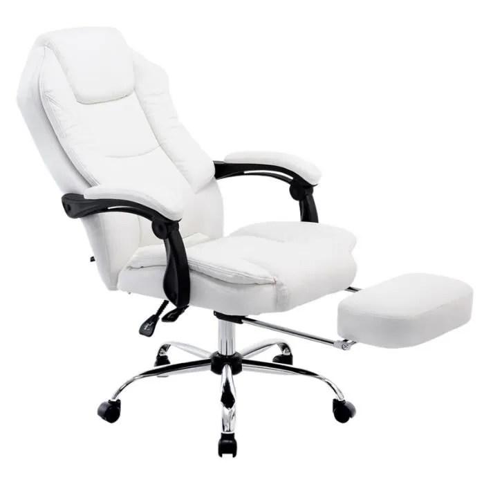 clp fauteuil bureau ergonomique castle fauteuil relax avec repose pieds extensible et accoudoirs poids admis 115 kg reglable e
