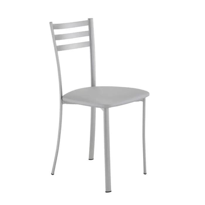 Chaise de cuisine grise LOUISE  Achat  Vente chaise Epoxy synthtique  Cdiscount