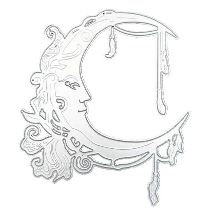3661-Gabarit de découpe en métal Ruban Lune DIY