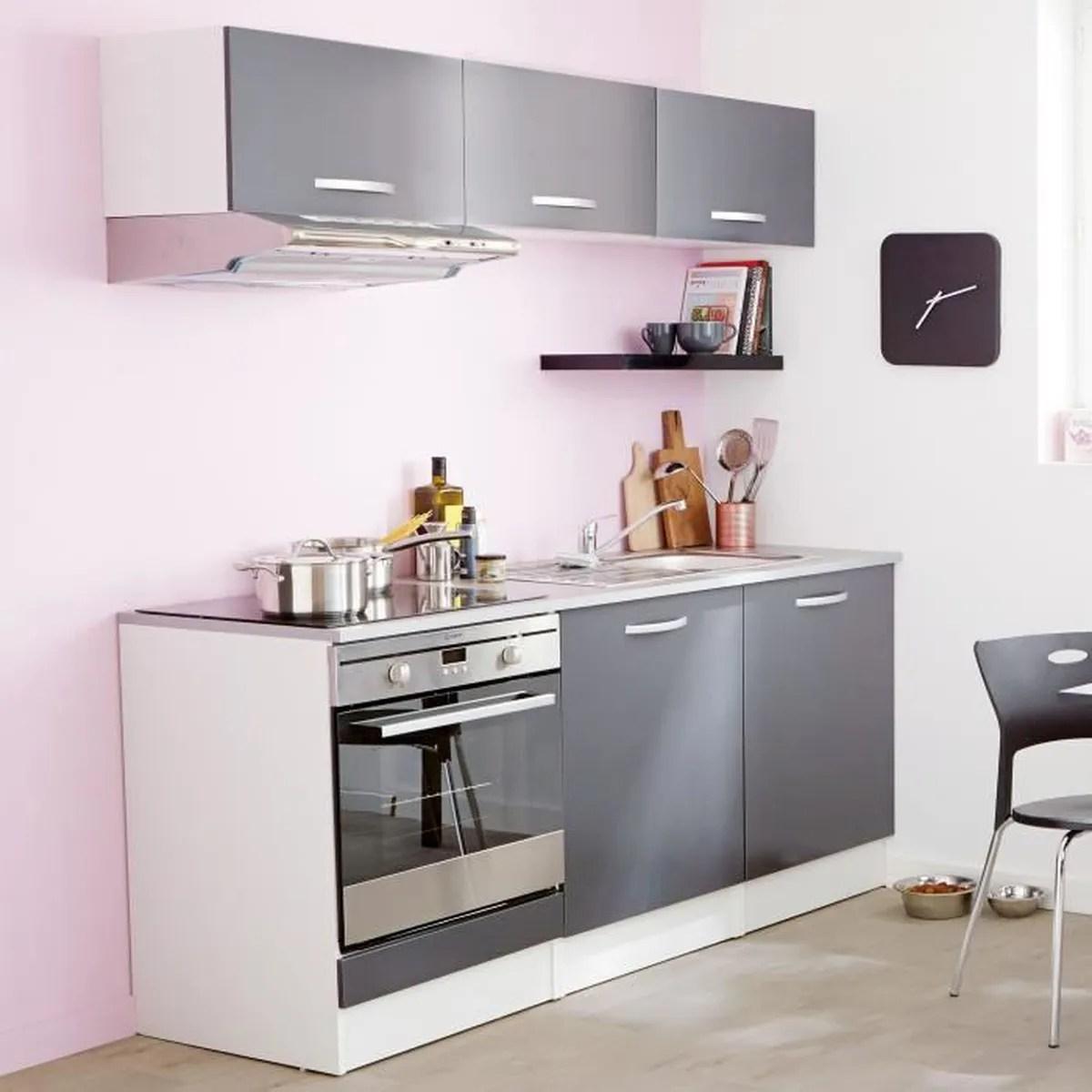 eko cuisine ensemble de meubles de cuisine gris prets a installer gris
