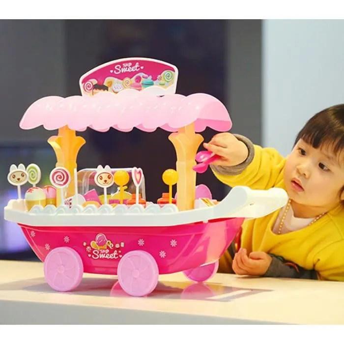 MCSAYS Chariot de Bonbons Chariot de Crme Glace Dinette Jouet Rangement Cadeau des Enfants