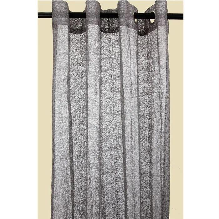 Double rideau Gris imprim Nid doiseaux  Achat  Vente rideau 100 polyester  Cdiscount