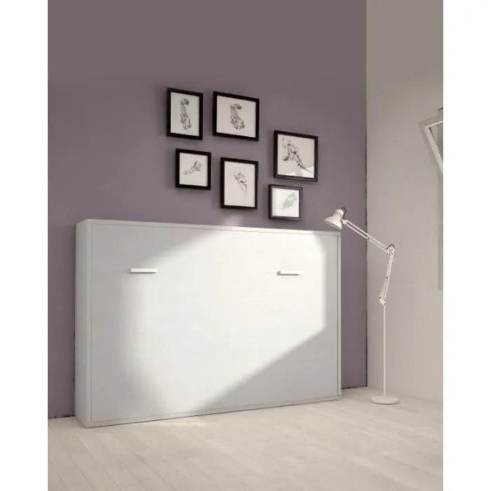 armoire lit escamotable horizontale 2 places 140 x