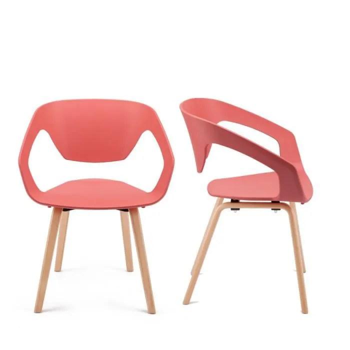 chaise lot de 2 chaises design scandinave danwood coule