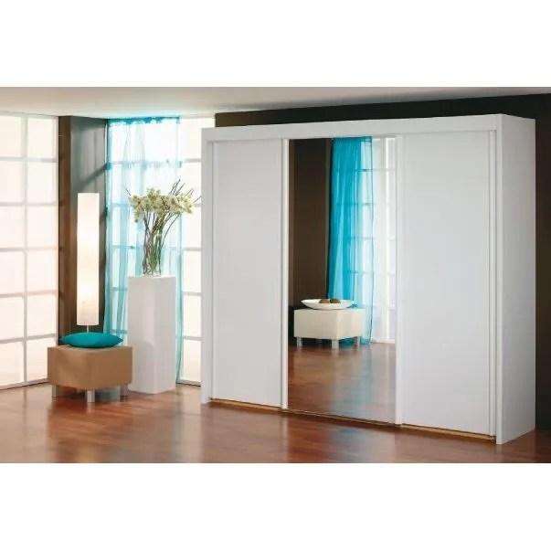 armoire a portes coulissantes avec miroir sur p