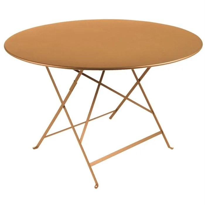 Table de jardin pliante metal Ronde 90cm  Achat  Vente table basse jardin Table de jardin