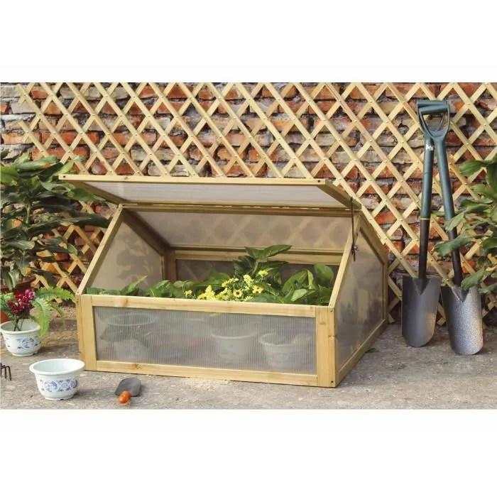 Mini serre de jardin  bois  chssis froid  pour le