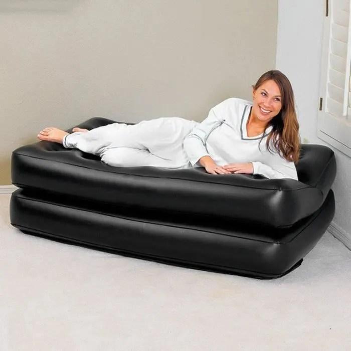 canape double gonflable lit matelas coussin d air avec pompe