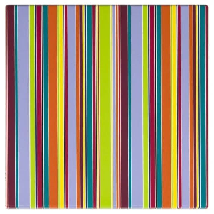 plateau de table plateau de table stripes carre 60x60