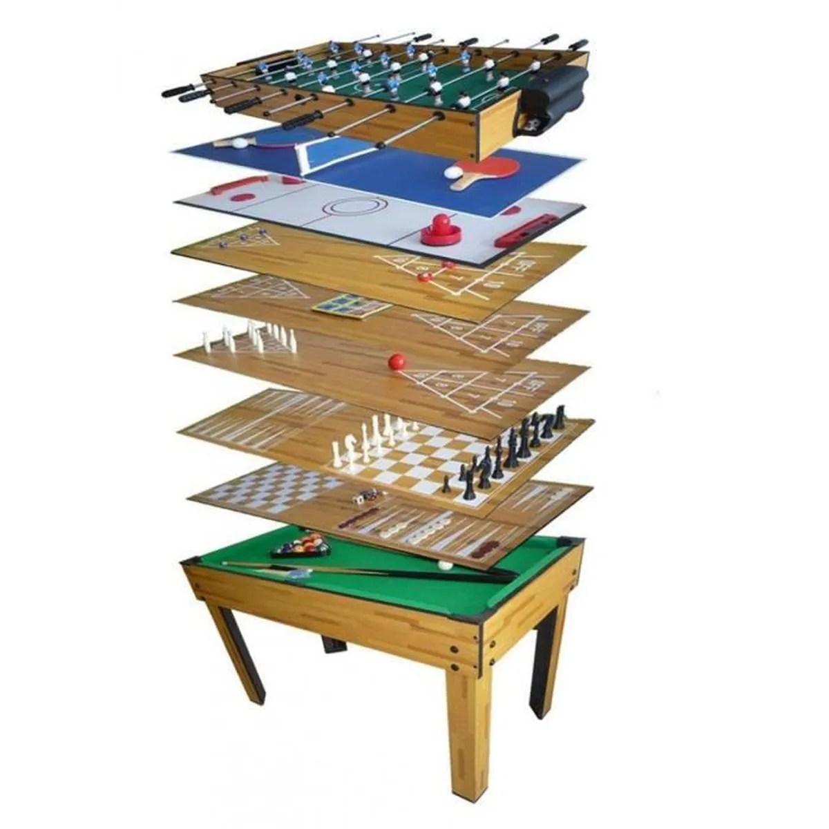 Table Salle De Jeux 10 En 1 Billard Baby Foot Ping Pong
