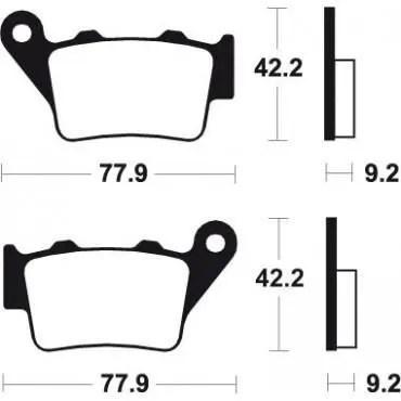 KTM EXC 125 250 300 SX 125 250 300 SX PLAQUETTES DE FREIN