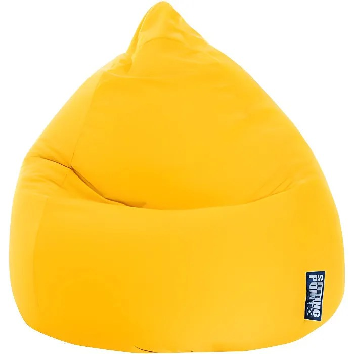Pouf Poire Easy XL Jaune By SittingPoint Achat Vente