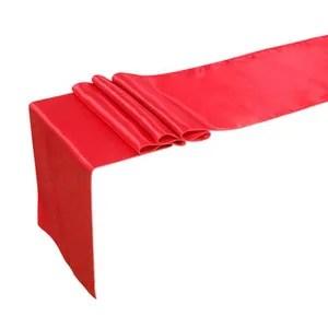 nappe de table hicollie rouge satin nappe table decorative chemi