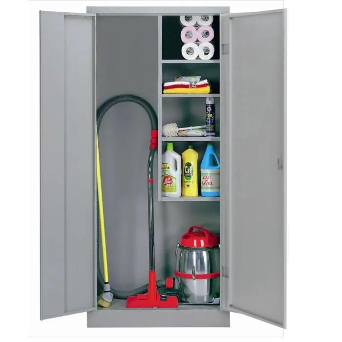 armoire d entretien double portes battantes
