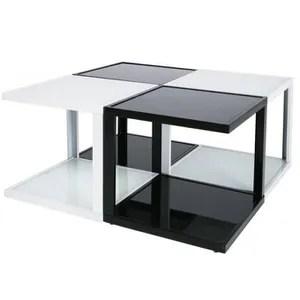 Table Basse En Verre Modulable Achat Vente Table Basse