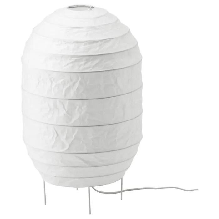 Ikea Lampadaire Papier Blanc Hauteur 55cm