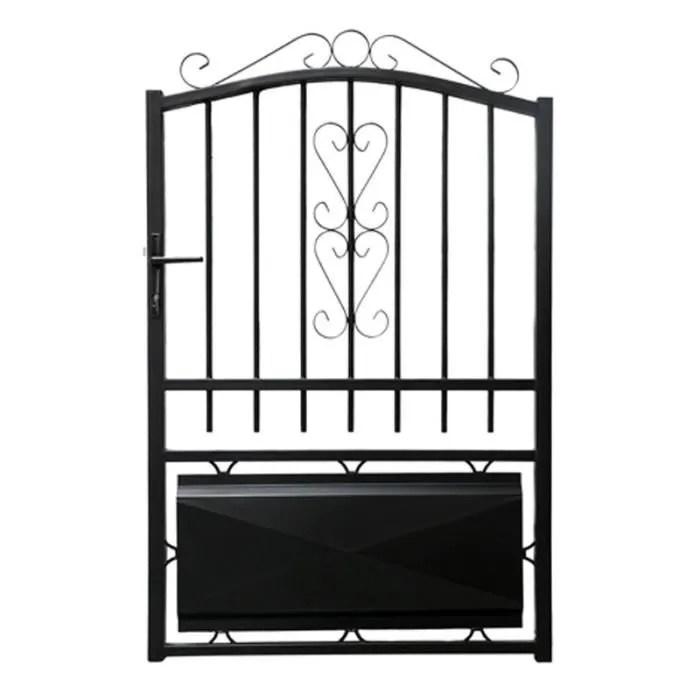 Portillon fer 1m LACANAU noir  Achat  Vente portail  portillon Portillon fer 1m LACANAU noir