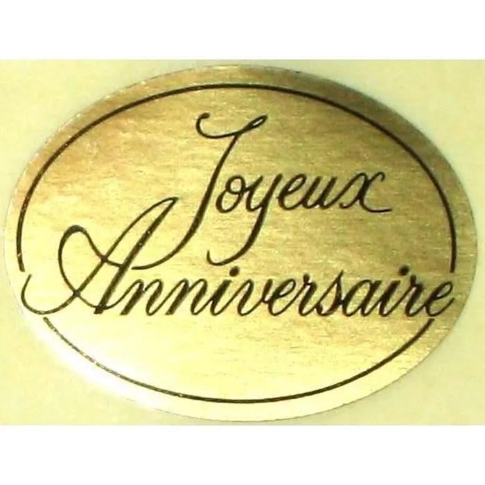12 Stickers Joyeux Anniversaire Dors Achat Vente
