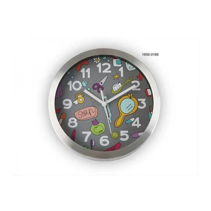 Horloge salle de bain 20 cm BATHROOM grise  Achat  Vente horloge  Cdiscount